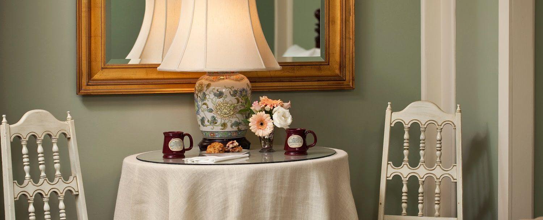 Coffee mugs on coffee table
