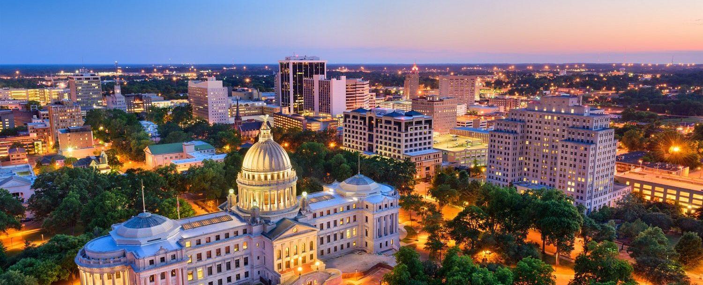 Jackson Mississippi Skyline at twilight