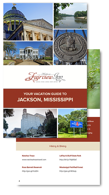 preview of the Fairview Inn Vacation Guide to Jackson, Mississippi