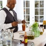 bartender making Bloody Mary