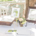 guest book set up on table